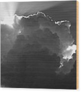 Clouds 1 Bw Wood Print by Maxwell Amaro