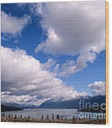 Clouds Over Lake Quinault Wood Print