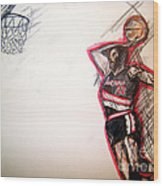 Clyde The Glide Wood Print