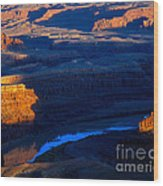 Colorado River Sunset Wood Print