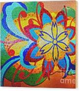 Colorful Tile Abstract Wood Print