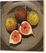 Common Fig Ficus Carica Wood Print by Venetia Featherstone-Witty