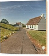 Corofin Thatched Cottages Wood Print