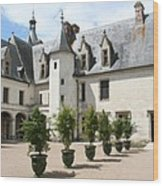 Courtyard Chateau Chaumont Wood Print