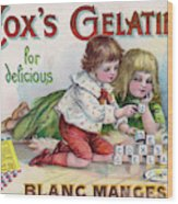 Cox's Gelatine For Delicious Wood Print