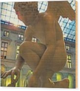 Cupid Playing With A Butterfly - Louvre Museum Paris Wood Print