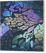 Cut Glass Mosaic  Wood Print