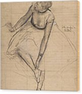 Dancer Adjusting Her Slipper Wood Print