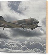 Dc3 Dakota   Workhorse Wood Print by Pat Speirs