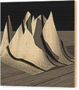Dinner Napkin Abstract Wood Print