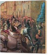 Doberman Pinscher Art -entree De Charles Viii Dans Florence Wood Print