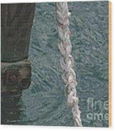 Dock Rope And Wood Wood Print