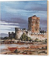 Doe Castle In Donegal Wood Print