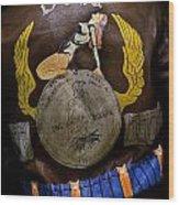 Dona Bomber Jacket Wood Print