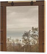 Door With A View Wood Print