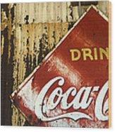 Drink Coca Cola  Memorbelia Wood Print