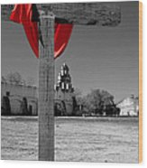 Mission San Juan Easter Cross Wood Print