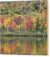 Echo Lake Fall Reflections Wood Print
