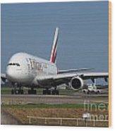 Emirates Airbus A380 Wood Print