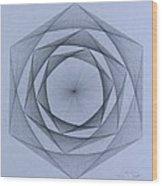 Energy Spiral Wood Print