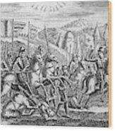English Soldiers Under Edward  IIi Wood Print