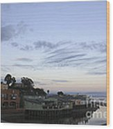 Evening In Capitola Wood Print