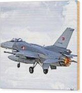 F16 Fighting Falcon Wood Print