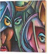 ' Face Us 2' Wood Print