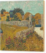 Farmhouse In Provence Wood Print