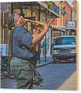 Feel It - Doreen's Jazz New Orleans 2 Wood Print
