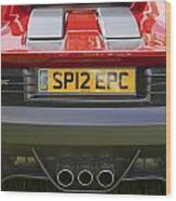 Ferrari Sp12 Ec Wood Print