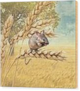 Field Mouse Wood Print
