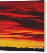 Fiery Furnace Sunset Wood Print