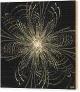 Filigree Flower Wood Print