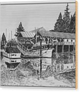 Net Shed Gig Harbor Wood Print