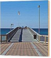 Fishing Pier Wood Print