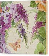 Flowering Butterfly Bush Wood Print