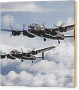 Flying Lancasters Wood Print