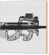 Fn Ps90 X-ray Photograph Wood Print