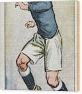 Fred Keenor, Player For Cardiff City Wood Print