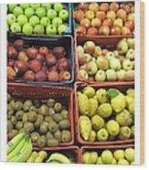Fruit Assisi Italy Market Wood Print