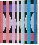 Fun Geometric  Wood Print