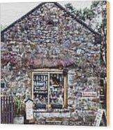 German Stone Cottage Wood Print