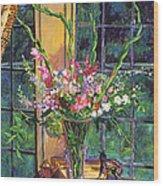 Gladiola Arrangement Wood Print by David Lloyd Glover