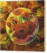 Van Globing Inflorescence Wood Print