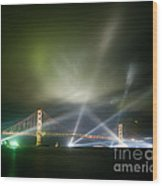 Golden Gate At Fifty Wood Print