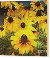 Golden Jerusalem Floral Wood Print