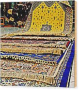 Gorgeous  Berber Rugs In Tangiers-morocco Wood Print