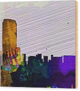 Grand Rapids City Skyline Wood Print