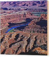Grand View Point Overlook Wood Print